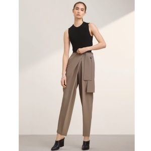 Wilfred Sauchet Knit Crepe Crop Sweater Blouse